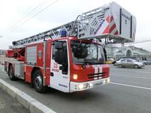 Пожарные машины у Белорусского вокзала в Москве