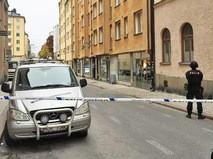 Шведская полиция на месте происшествия в районе Сёдермальм