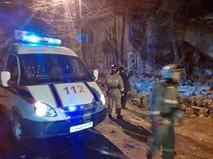 Спасатели МЧС России на месте обрушения дома в Перми