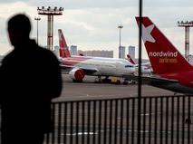 """Самолет авиакомпании Nordwind Airlines (""""Северный ветер"""")"""