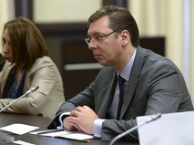Председатель правительства Сербии Александр Вучич