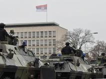 """Подразделение военной полиции Сербии во время тактических контртеррористических учений """"Щит"""""""