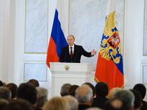 Владимир Путин обращается с посланием к Федеральному собранию