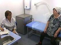 Прием пациентов в мобильной поликлинике