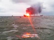 Пожар на нефтедобывающей платформе