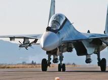 Истребитель Су-30 авиагруппировки ВКС России в Сирии