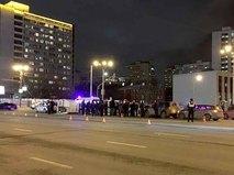 ДТП с участием фургона столичного полицейского главка
