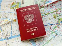 Российский загранпаспорт на карте