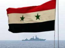 Ракетный крейсер ВМФ России у берегов Сирии