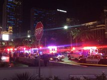 Полиция на месте ДТП в Лас-Вегасе