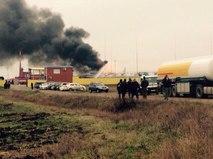 Пожар на Ильском НПЗ в Краснодарском крае