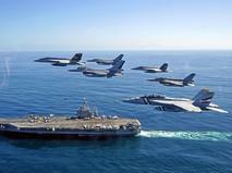 Истребители ВВС Франции над авианосцем
