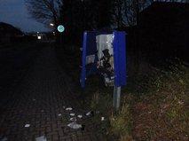 Взорванный автомат по продаже презервативов