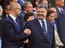 Президент Украины Петр Порошенко и премьер-министр Арсений Яценюк