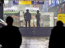 Полицейское оцепление у вокзала в Германии