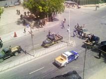 Место происшествия в Сомали