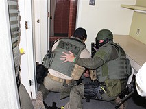 Полиция Мексики на месте происшествия