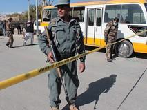 Полиция Афганистана на месте взрыва
