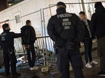 Полиция Кельна на месте беспорядков