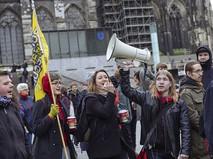 Акция протеста в Кельне