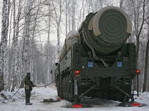 """Ракетный комплекс """"Тополь"""" на полигоне"""
