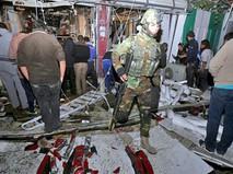Военные Ирака на месте взрыва