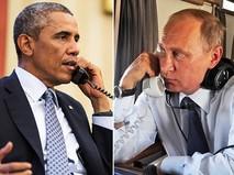 Президент России Владимир Путин и президент США Барак Обама общаются по телефону