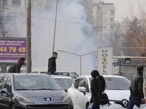 Во время разгона демонстрантов в Турции