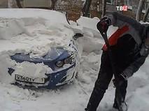 Сугробы во Владивостоке