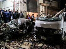 Место взрыва в Гизе