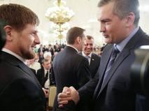 Глава Крыма Сергей Аксёнов с главой Чечни Рамзаном Кадыровым