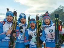 Российские биатлонисты на этапе Кубка мира в Италии