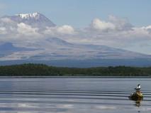 Вид на вулкан Шивелуч
