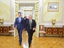 Президент России Владимир Путин и президент Сирии Башар Асад во время встречи в Кремле