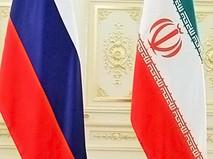 Флаги России и Ирана