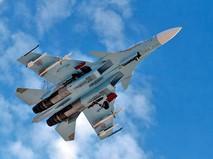 Истребитель Су-30 авиационной группировки ВКС России