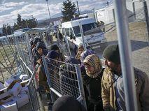 Беженцы на греко-македонской границе