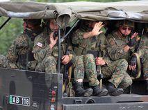Грузинские военнослужащие, Южная Осетия, 2008 год