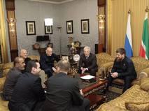 Глава Чечни Рамзан Кадыров на встрече с бизнесменами из ОАЭ