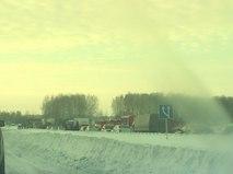 Массовое ДТП на трассе M5 под Челябинском