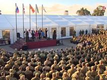 Концерт российских исполнителей на авиабазе Хмеймим в Сирии
