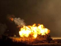 САУ турецкой армии ведет обстрел