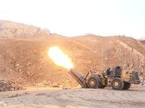 Самодельная ракетная установка в Сирии