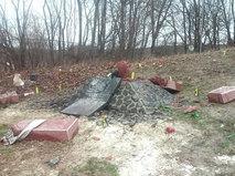 На месте взрыва стелы памяти Сашко Билому