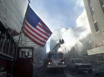 На месте теракта в США. 11 сентября 2001 года