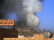 Последствия бомбардировок в Йемене