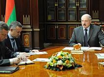 Президент Белоруссии Александр Лукашенко на встрече с министром торговли