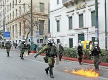 Полиция Греции присекает уличные беспорядки