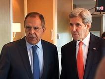 Глава МИД России Сергей Лавров и госсекретарь США Джон Керри