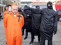 Акция протеста против убийства христиан